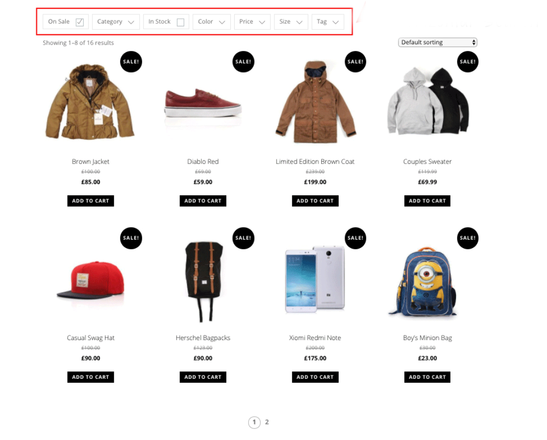 Easy-To-Use WooCommerce Product Filter