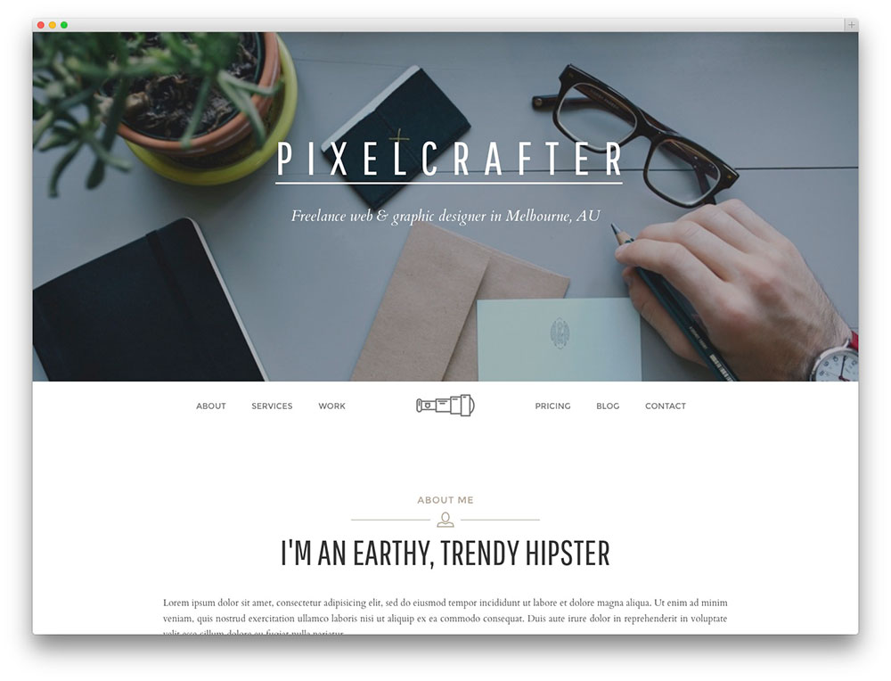 Thread - One page Creative theme