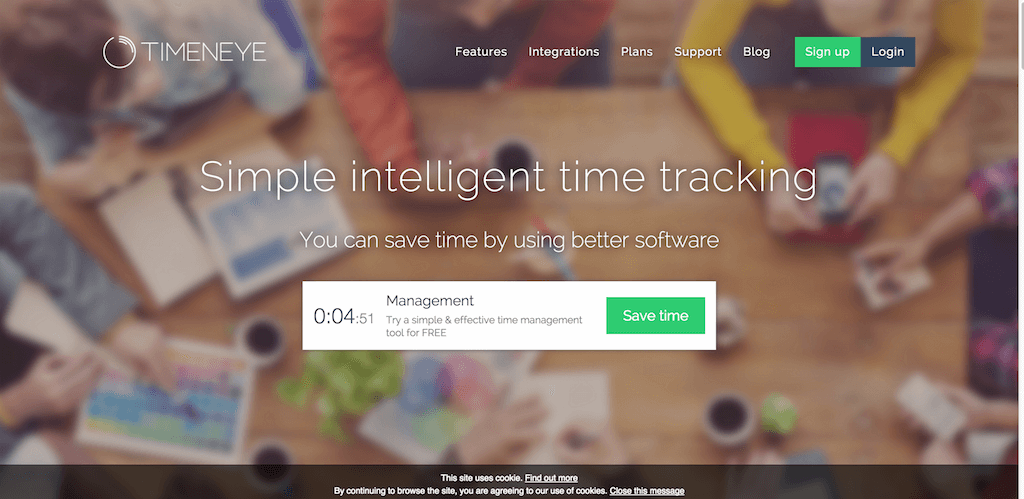Timeneye Simple intelligent time tracking software