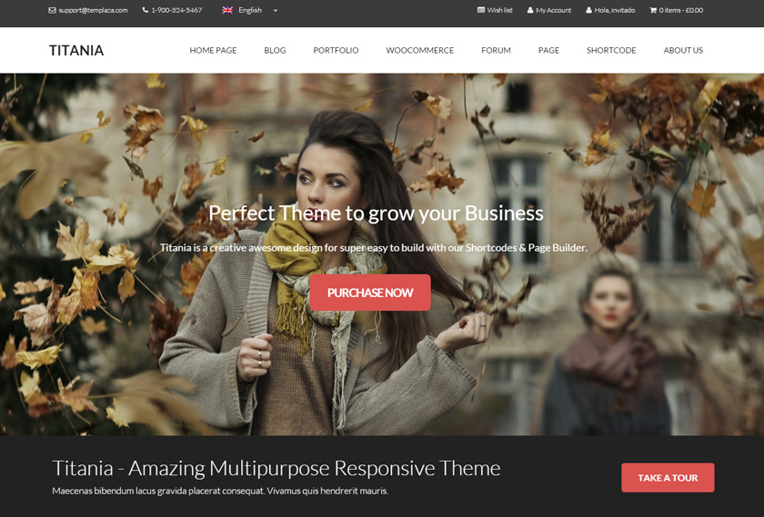 Titania WordPress Theme