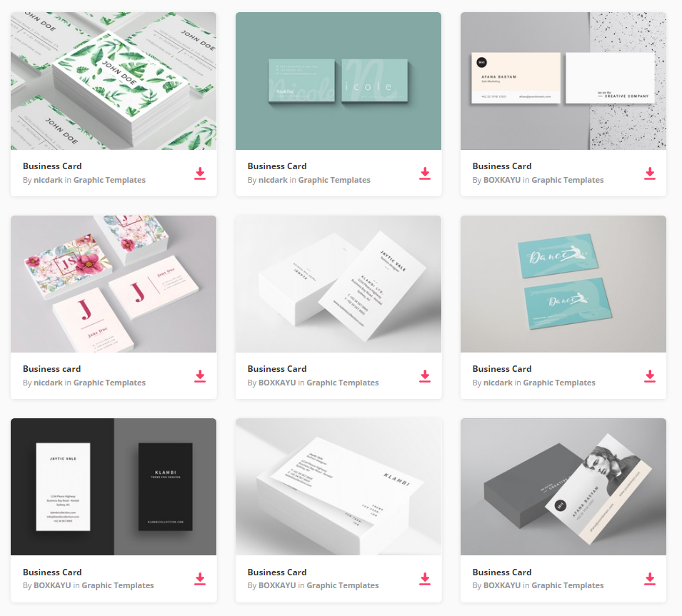 Top Free Business Card PSD Mockup Templates In Colorlib - Business card template pages
