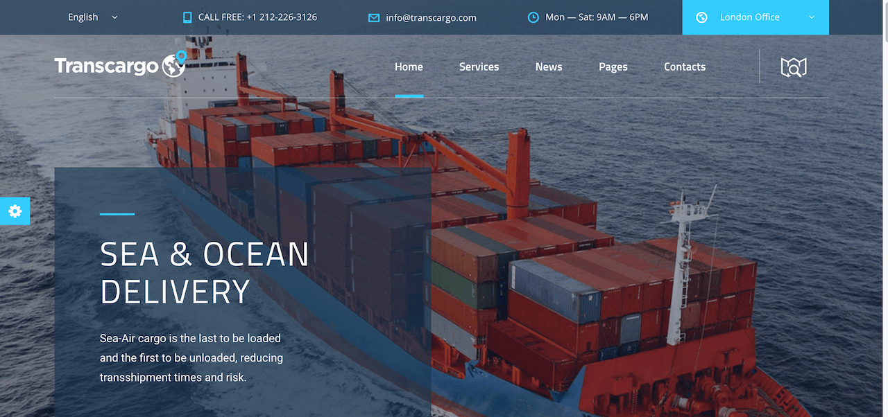 Transcargo – Logistics Transportation WordPress Theme