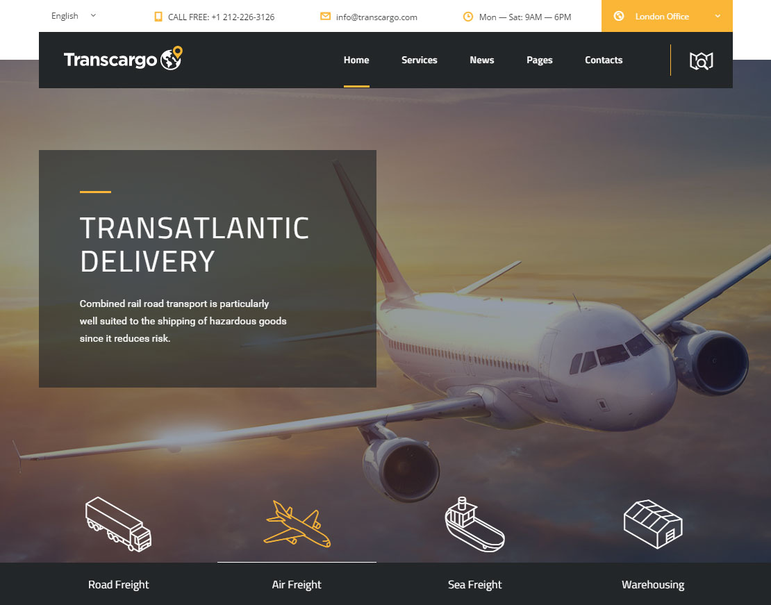 Transcargo Review Homepage