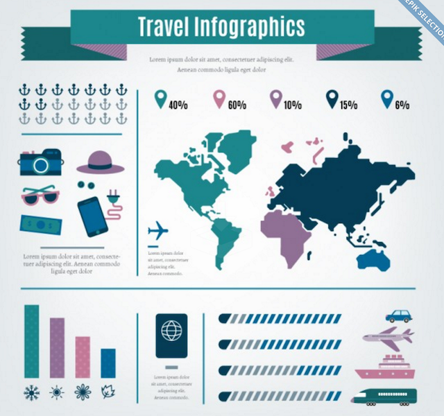 Travel Agency Infographic Elements
