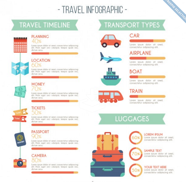 Travel Infographic with Flat Design