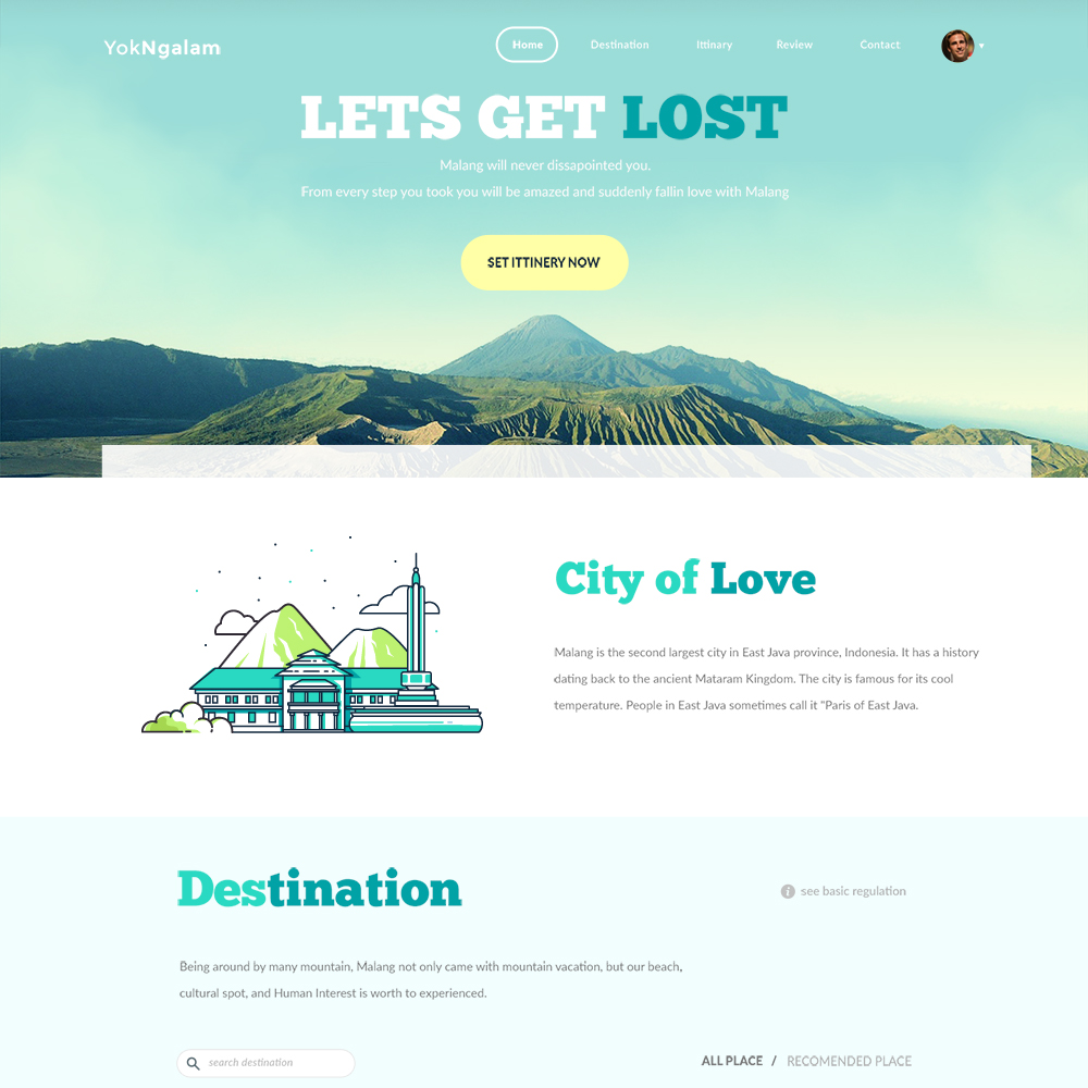 TravelSite Free PSD One Page Templates