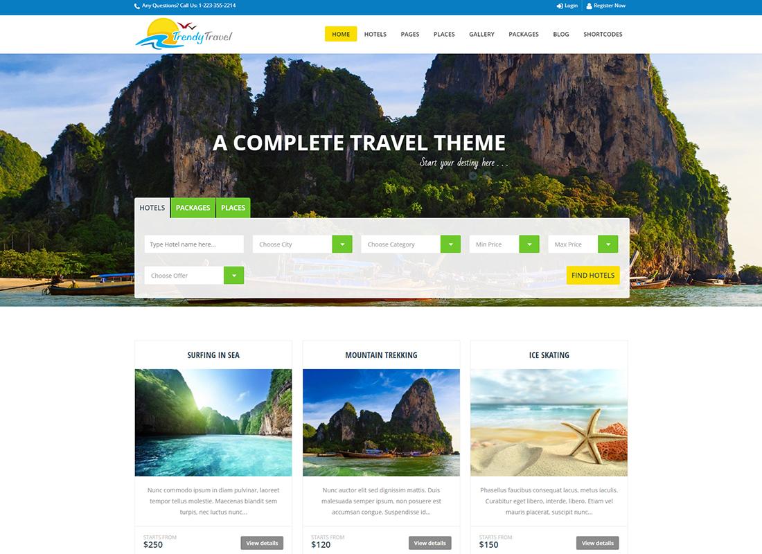 Trendy Travel - Tour, Travel & Travel Agency Theme