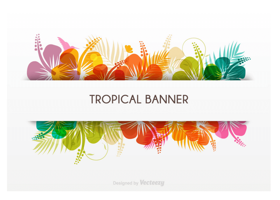 Top 22 free banner templates in psd and ai in 2017 colorlib tropical banner in vector format pronofoot35fo Choice Image