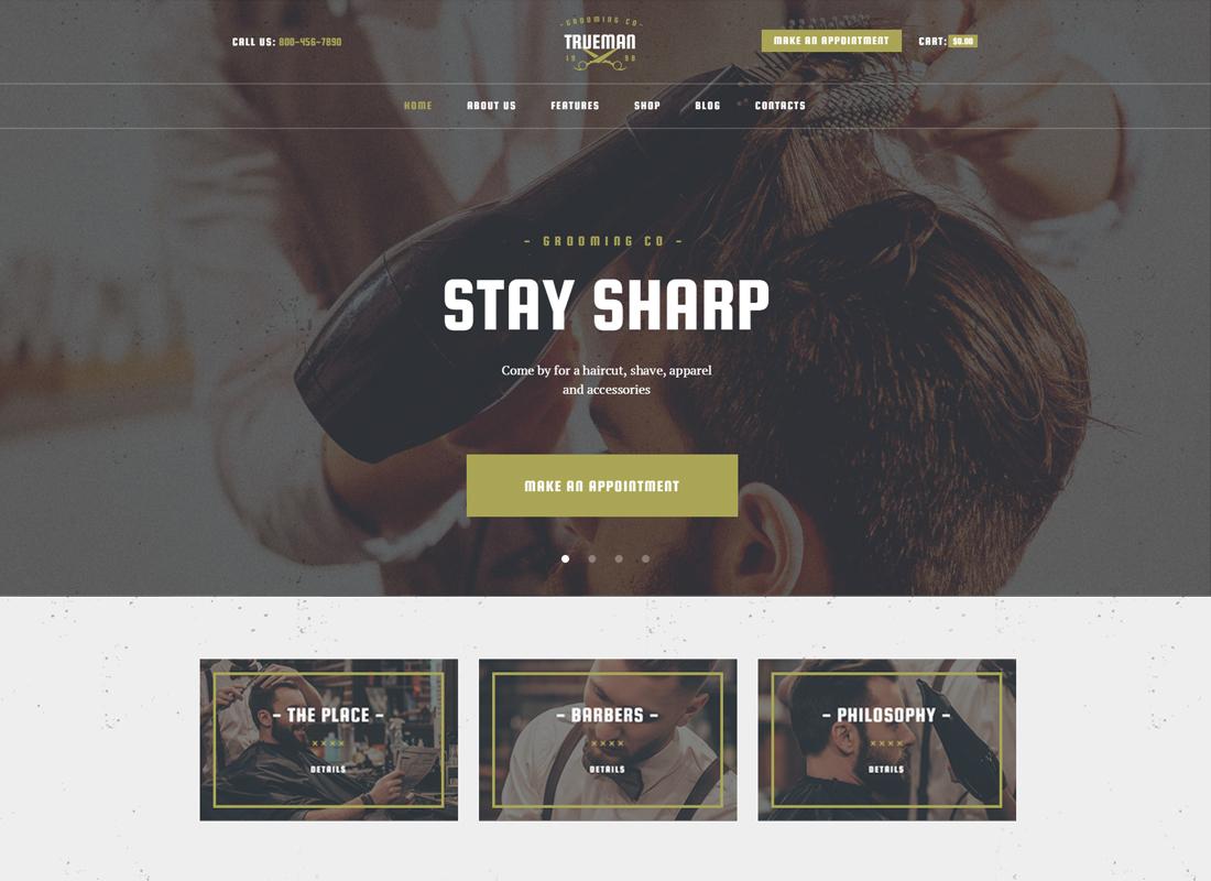 Trueman - Hairdressers & Barbershop WordPress Theme