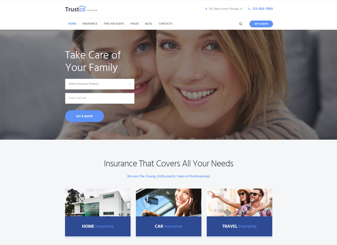 Trustco - Insurance Agency & Business WordPress Theme