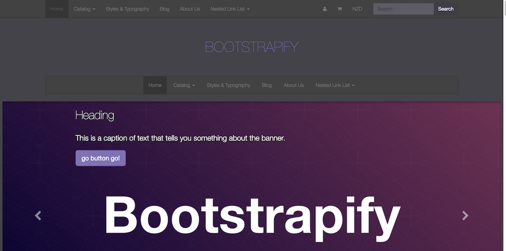 Twitter Bootstrap based responsive Shopify theme Bootstrapify