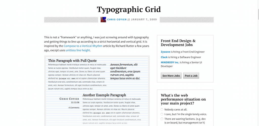 Typographic Grid CSS Tricks