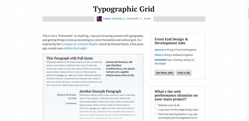 Typographic Grid CSS Tricks