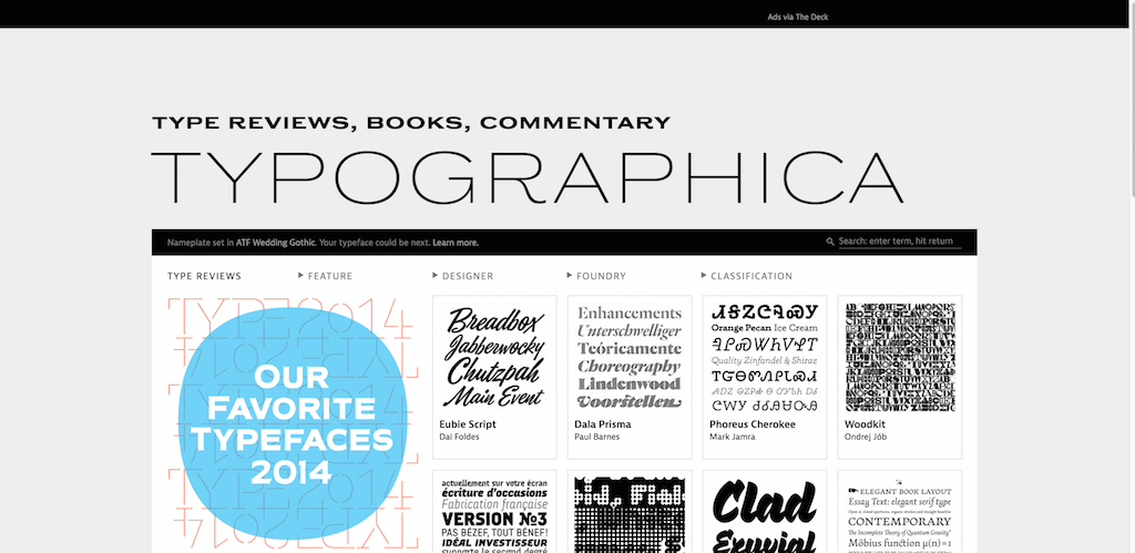 Typographica. Type Reviews Books Commentary.