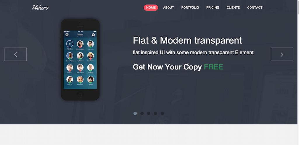 UI Hero Free Responsive Bootstrap Theme
