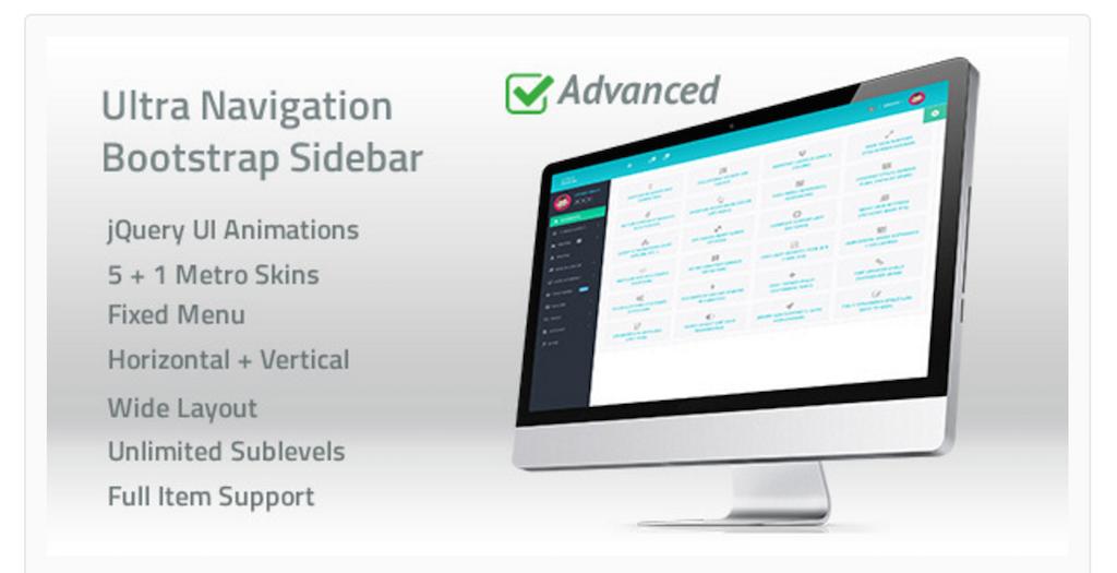 Ultra Navigation - Responsive Bootstrap Sidebar Menu