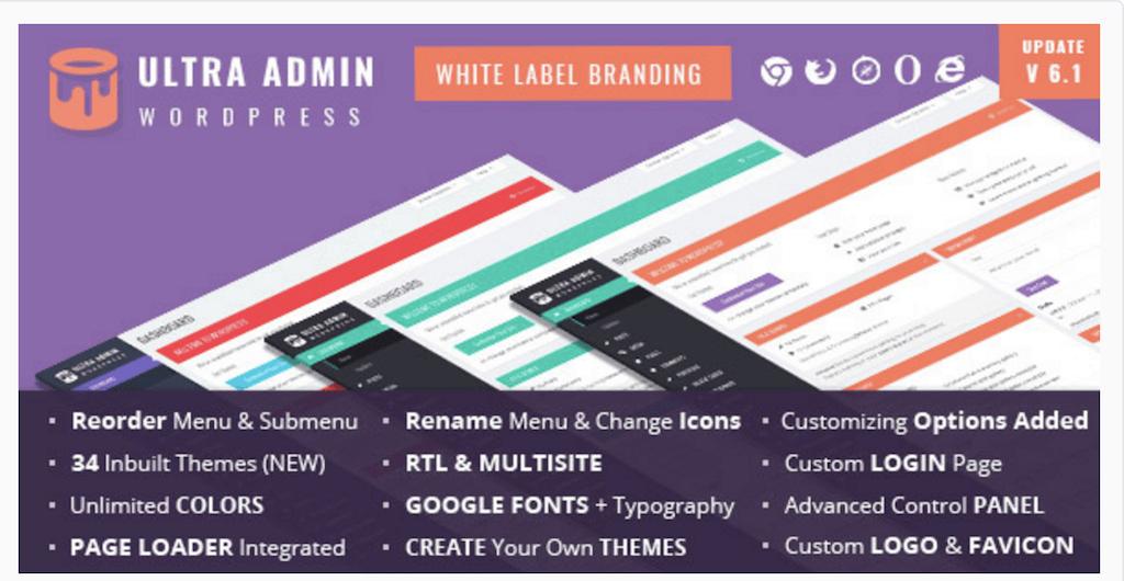 Ultra WordPress Admin Theme WordPress CodeCanyon