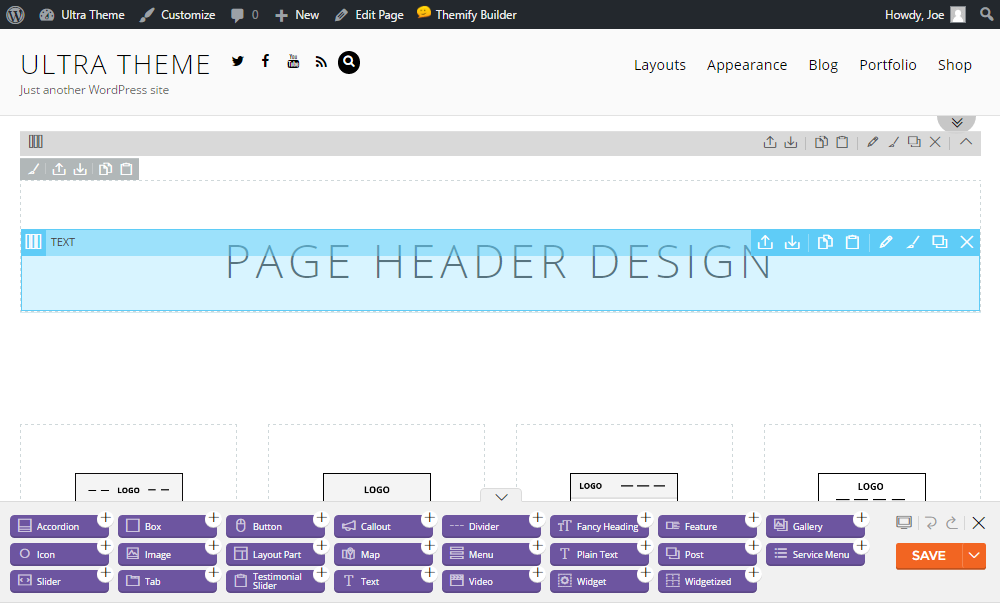 Ultra WordPress Theme Review Builder 01