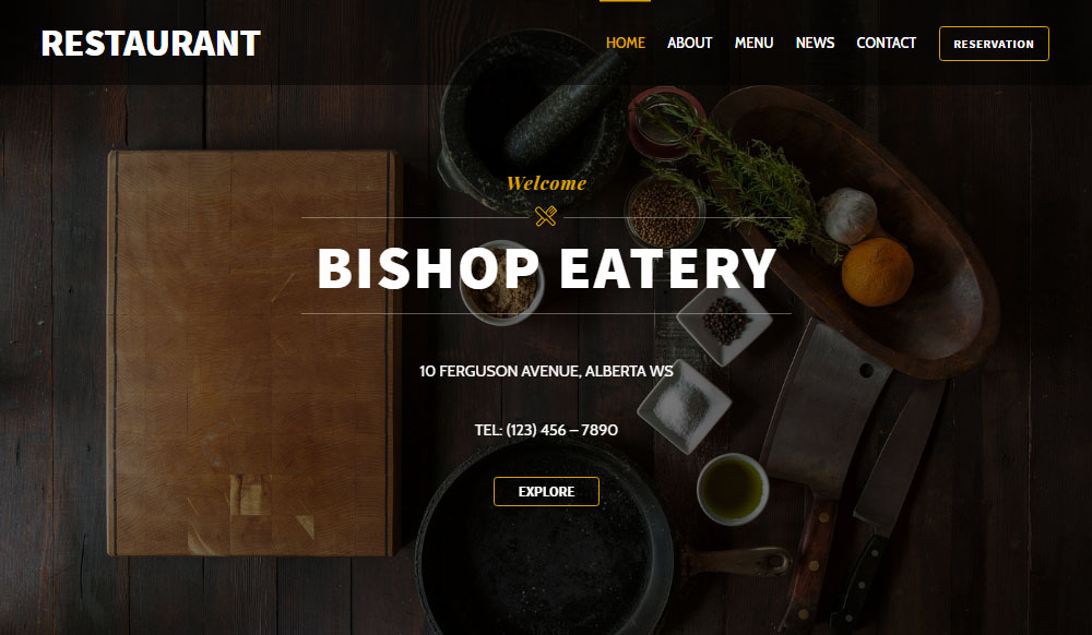 Ultra WordPress Theme Review Restaurant