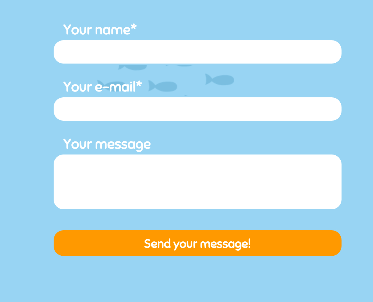 Under The Sea Contact Form  Feedback Form Template Free
