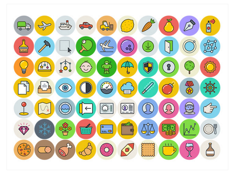 Top 32 Adobe Illustrator Icon Sets In 2018 Colorlib