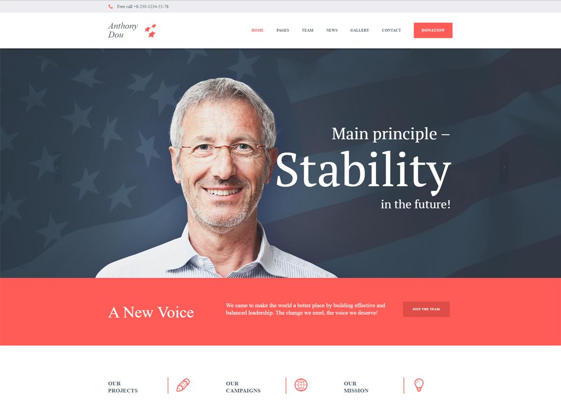 Unite | A Modern Political & Social WordPress Theme