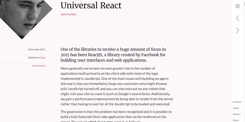 Universal React ◆ 24 ways