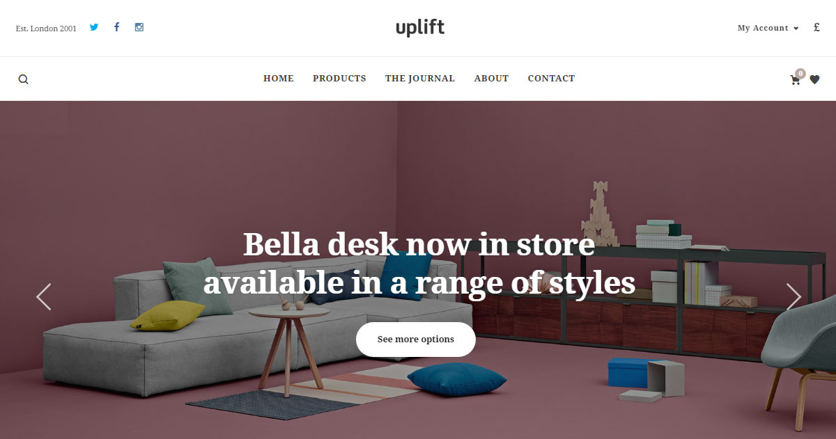 Uplift WordPress Theme Review Goods Demo