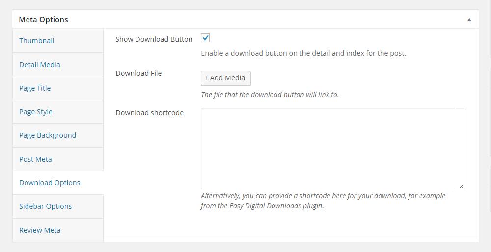 Uplift WordPress Theme Review Meta Options Download