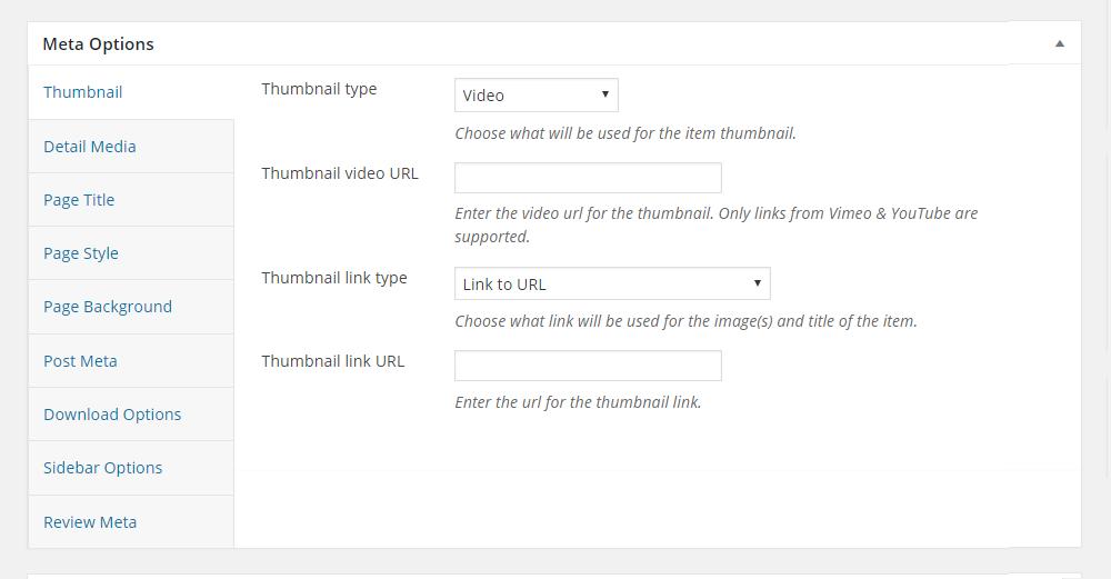 Uplift WordPress Theme Review Meta Options