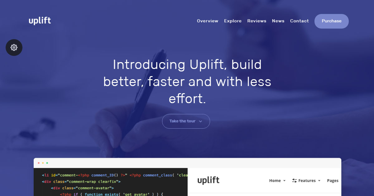 Uplift WordPress Theme Review Startup Demo