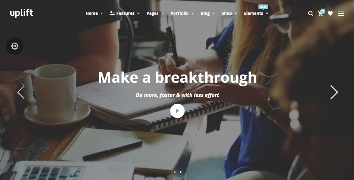 Uplift WordPress Theme Review Swift Slider