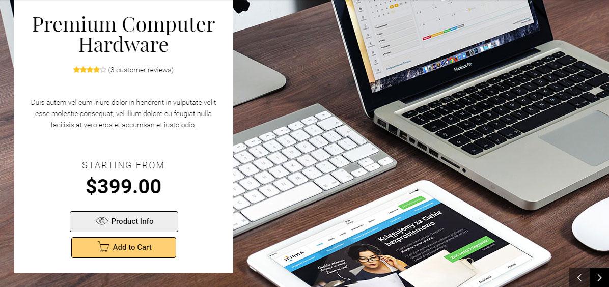 Uplift WordPress Theme Review WooCommerce Slider