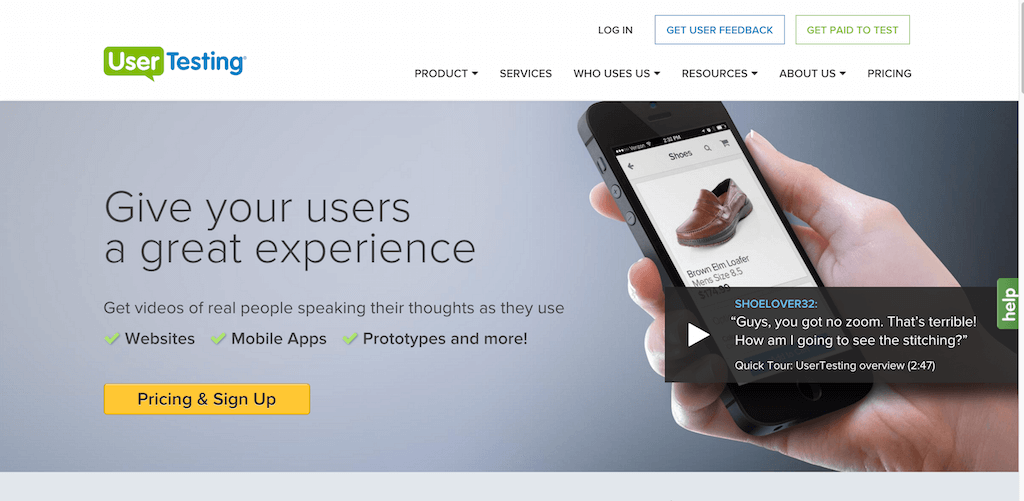UserTesting User Experience Research Platform