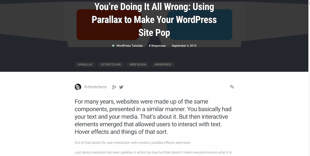 Using Parallax to Make Your WordPress Site Pop
