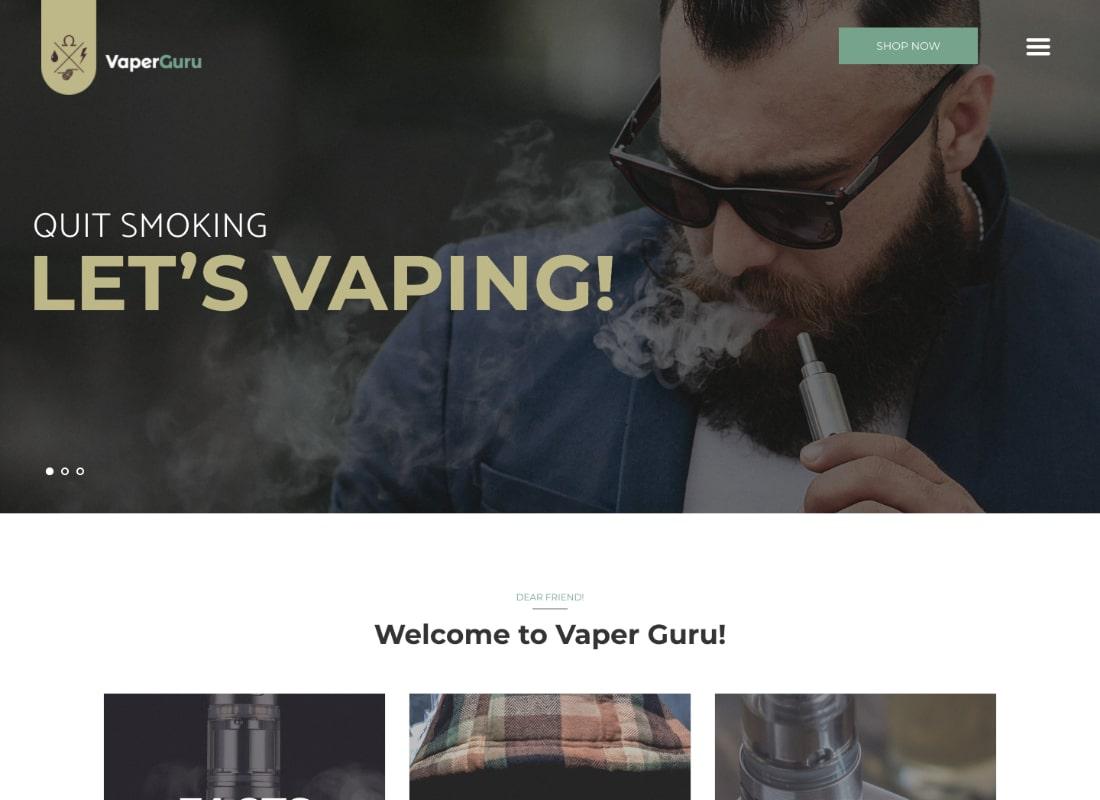 VaperGuru | Vapers Community & Cigarette Store WordPress Theme