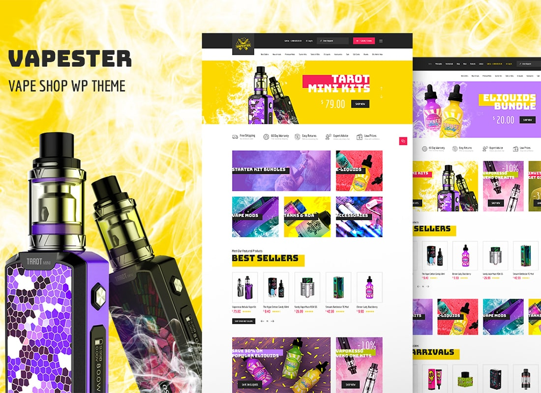 Vapester | Creative Vape Shop WooCommerce Theme