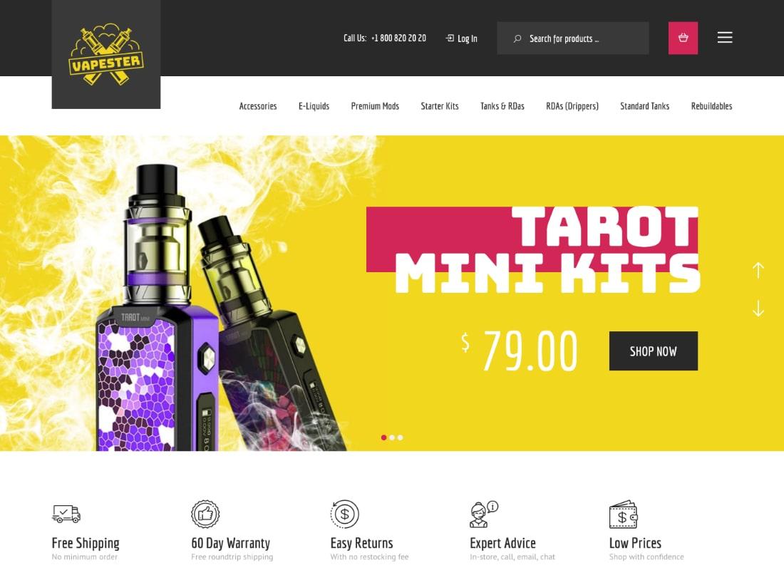 Vapester | Creative Vape Shop WooCommerce Theme