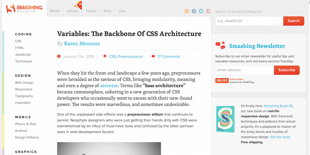Variables The Backbone Of CSS Architecture – Smashing Magazine