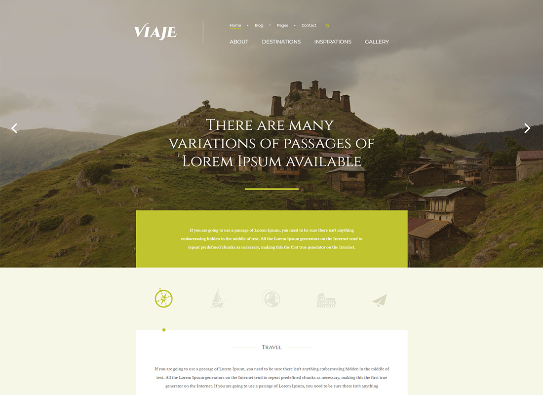 Viaje - Responsive WordPress Theme