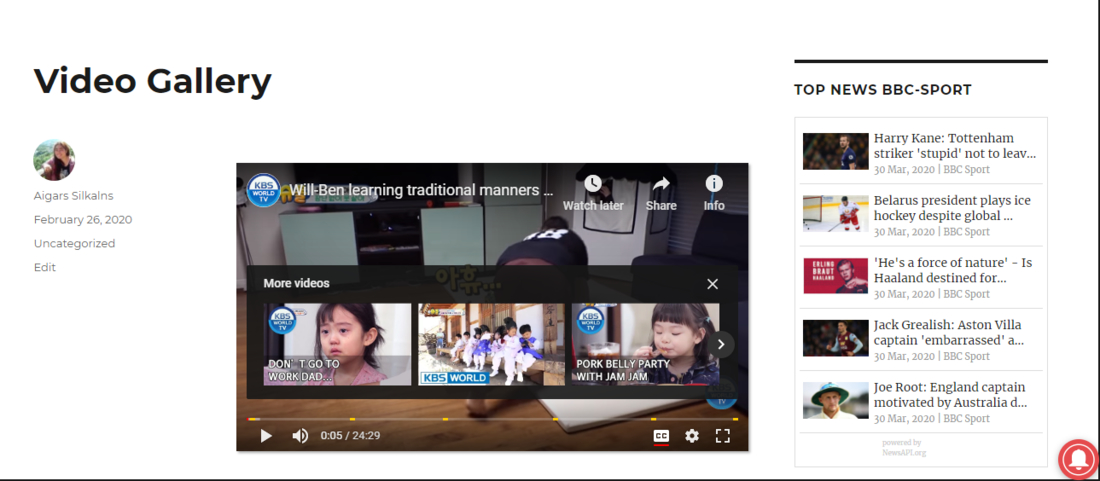 Video Gallery – YouTube Playlist, Channel Gallery by YotuWP Preview Page