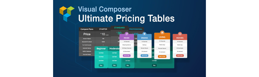 Visual Composer Ultimate Pricing Table Addon