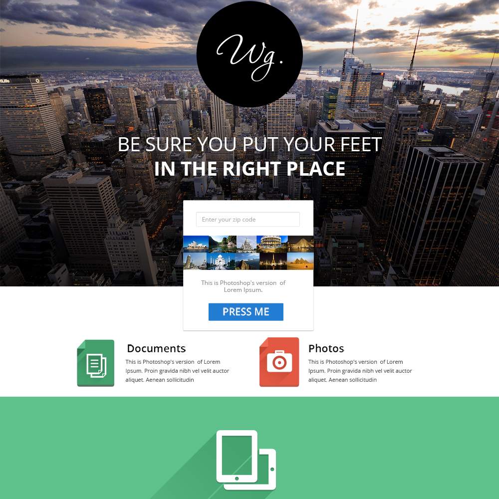 Idesign Onepage Psd Template: 30 Free One-Page PSD Web Templates In 2020