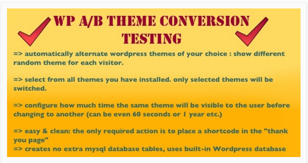 WP A-B Theme Conversion TestingWP A-B Theme Conversion Testing