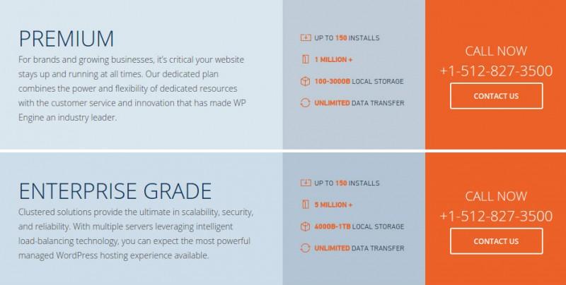 WP Engine Review-premium-enterprise