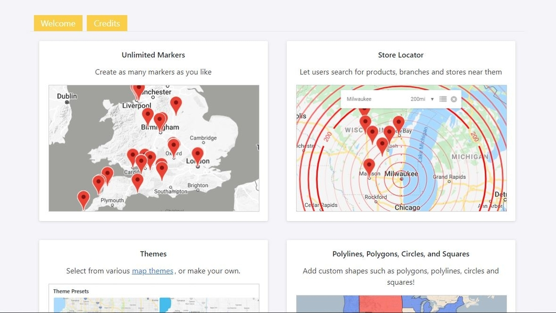 WP Google Maps setup page