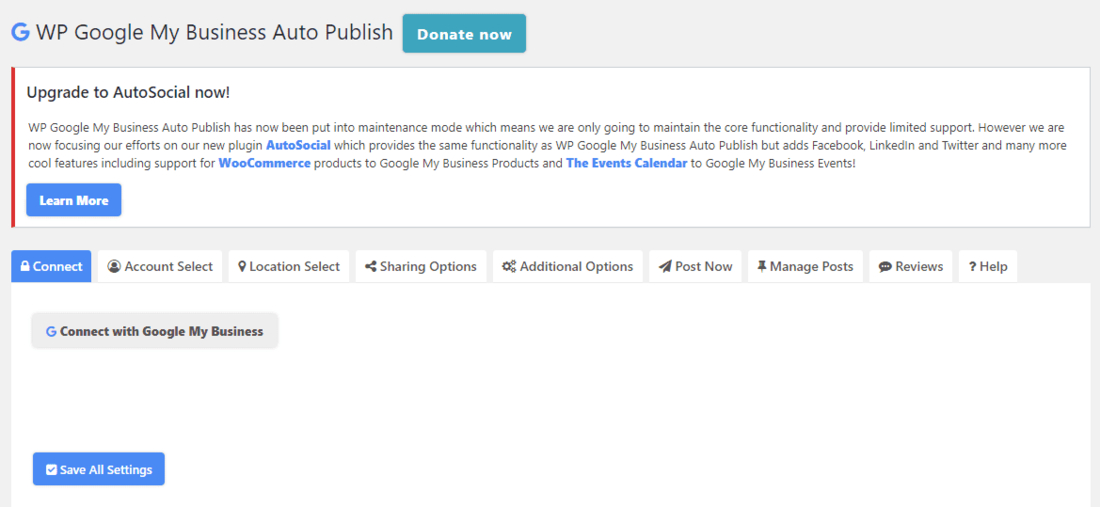 WP Google My Business Auto Publish to Your Business Page