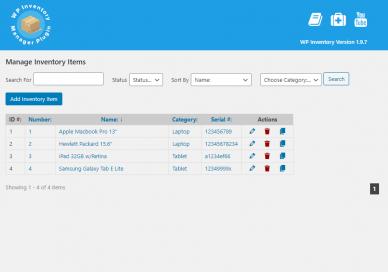 WordPress Inventory Management Plugin