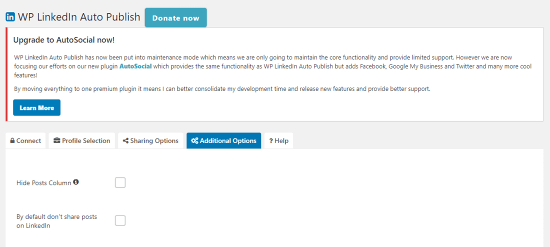 WP LinkedIn Plugin to Share Your Post Automatically to Your Profile