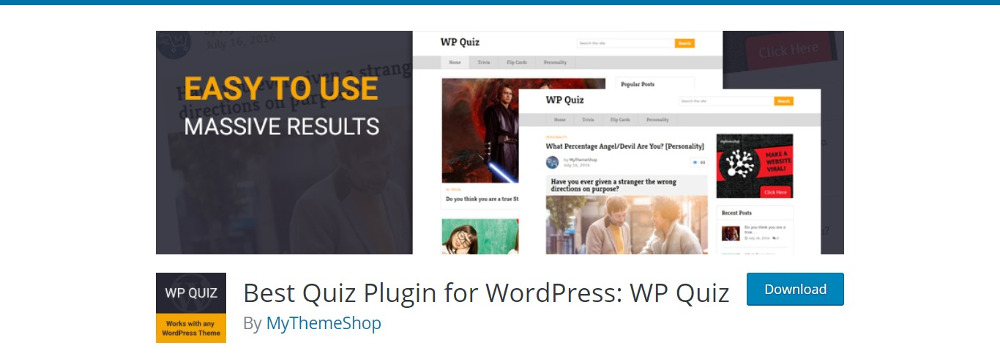 WordPress Quiz Plugins : WP Quiz